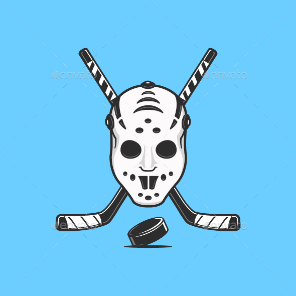 Ice Hockey Emblem - Sports/Activity Conceptual