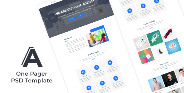 One Pager Creative Agency Website Design