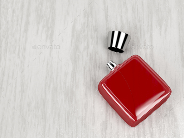 Red perfume bottle - Stock Photo - Images