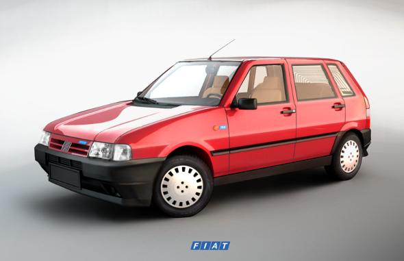 Fiat Uno 70S 3D model - 3DOcean Item for Sale