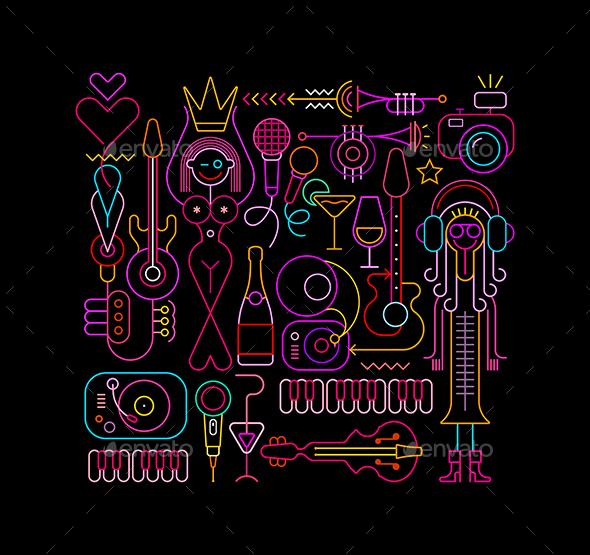 Beauty Pageant Vector illustration - Abstract Conceptual