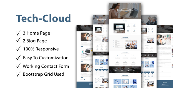 Image of Tech-Cloud One Page Multipurpose/parallax