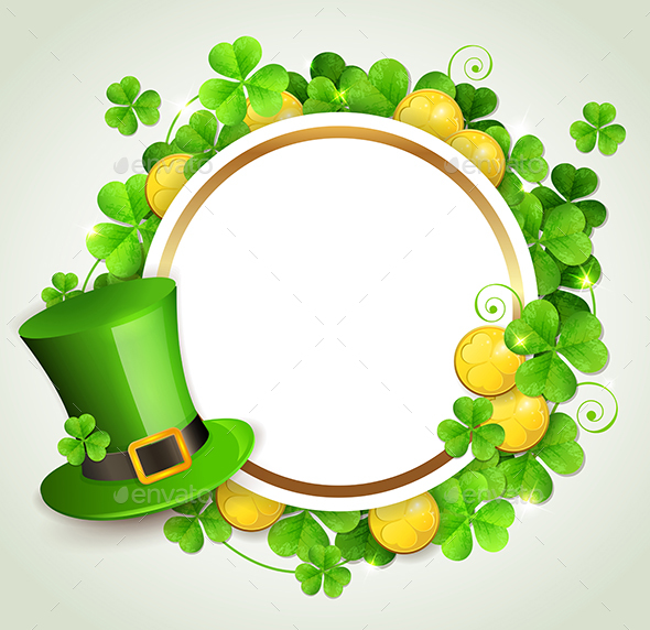 Round Banner and Green Hat - Miscellaneous Seasons/Holidays