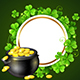 Pot of Gold and Green Clover Leaves - GraphicRiver Item for Sale