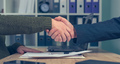 Man and woman shaking hands over business agreement - PhotoDune Item for Sale