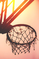 Basketball hoop on amateur outdoor basketball court - PhotoDune Item for Sale