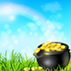Pot of Gold in a Green Grass - GraphicRiver Item for Sale