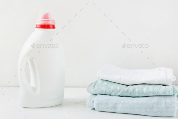 Bottle with liquid detergent  - Stock Photo - Images