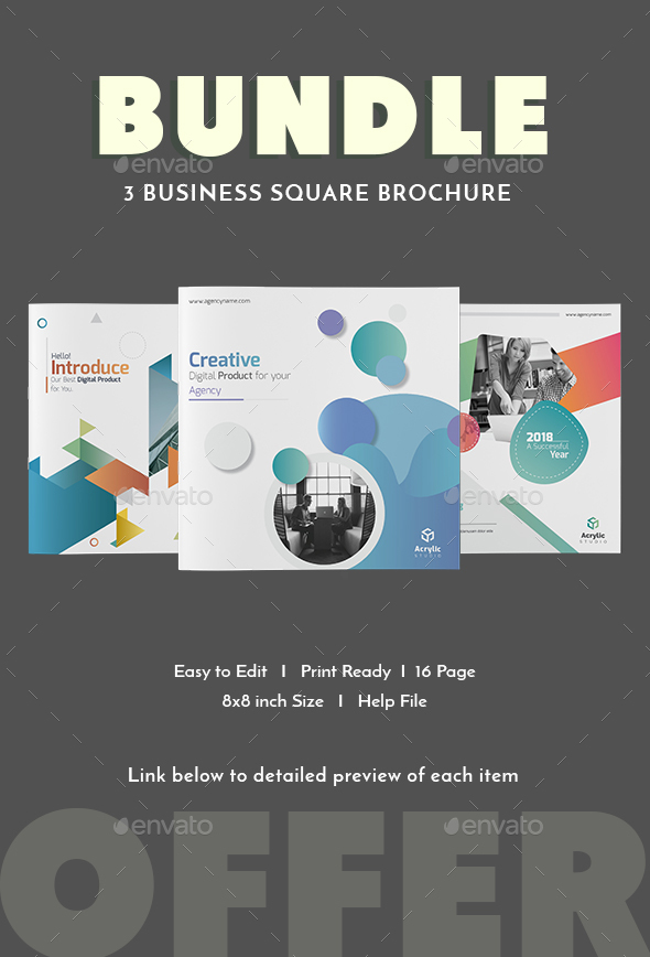 Bundle - Square Brochure - Corporate Brochures