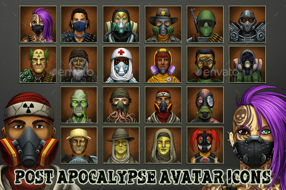 Post-Apocalypse Game Avatars - Miscellaneous Game Assets