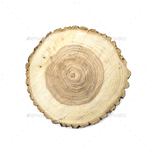 Round wooden cut board - Stock Photo - Images
