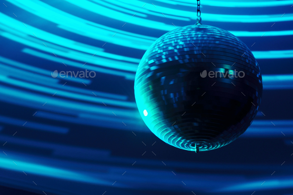 Blurred disco ball background closeup - Stock Photo - Images