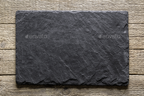 Black slate texture closeup - Stock Photo - Images