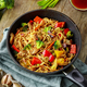 Asian egg noodles with vegetables and meat - PhotoDune Item for Sale