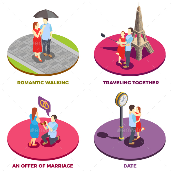 Romantic Relationship 2x2 Design Concept - Business Conceptual
