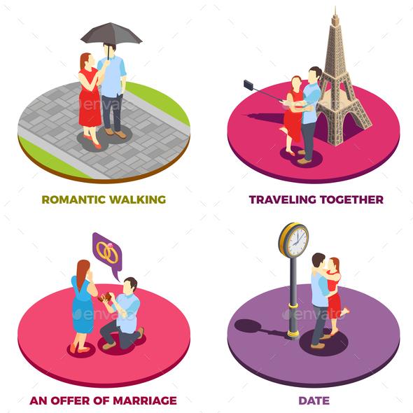 Romantic Relationship 2x2 Design Concept - Business Conceptual