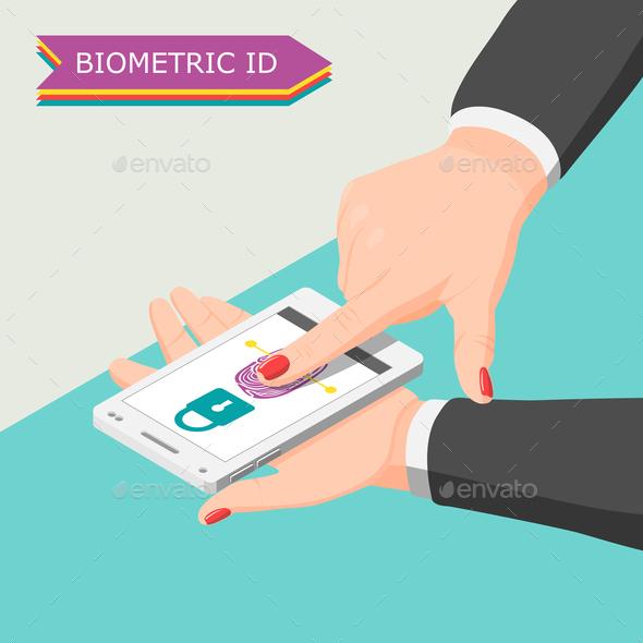 Biometric ID Background - Communications Technology