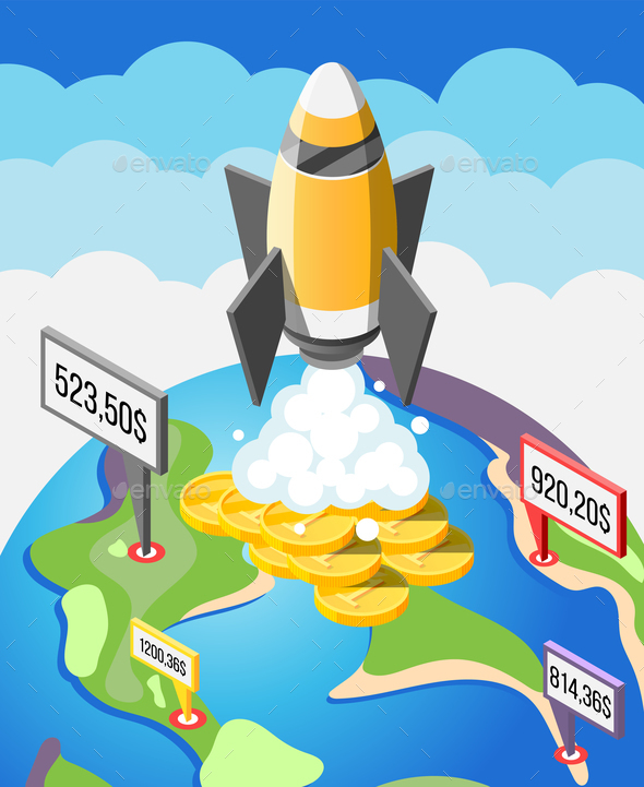 Crowdfunding Startup Isometric Composition - Concepts Business