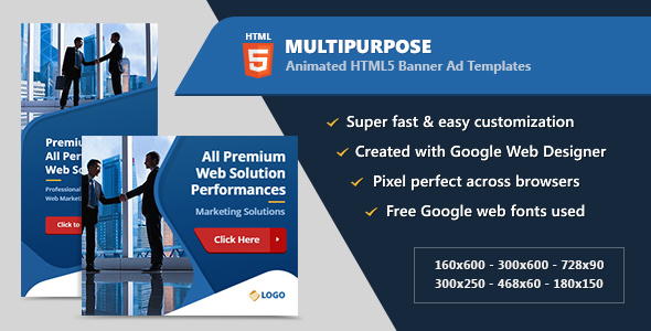 Multipurpose Animated Banner Ads HTML5 (GWD) - CodeCanyon Item for Sale