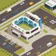 Sport Stadium Area Isometric Composition