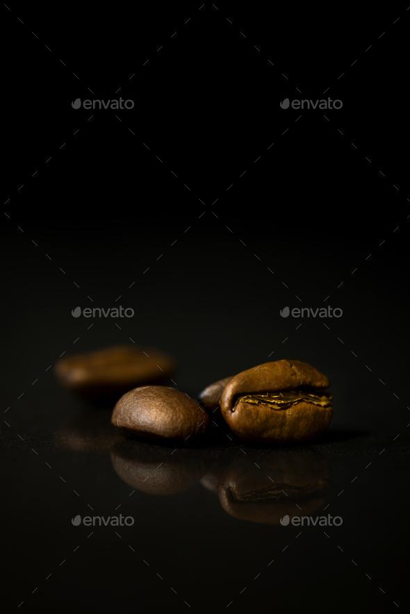 Macro coffee beans - Stock Photo - Images
