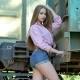 Beautiful Girl Posing Between Railway - VideoHive Item for Sale