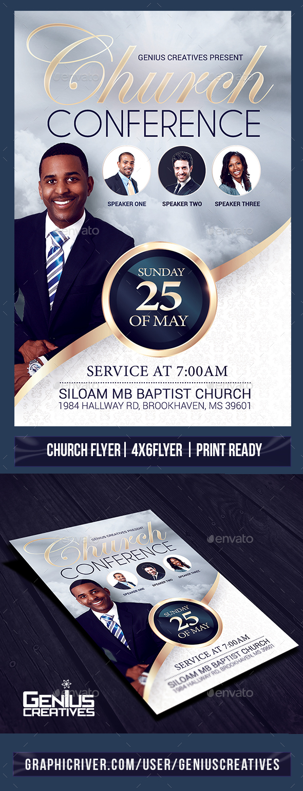 Church Event or Conference Flyer Template - Church Flyers