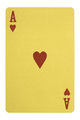 Golden playing cards, Ace of hearts - PhotoDune Item for Sale