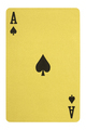 Golden playing cards, Ace of spades - PhotoDune Item for Sale