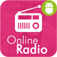 Online Radio With Material Design.