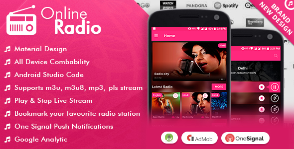 Online Radio With Material Design. - CodeCanyon Item for Sale