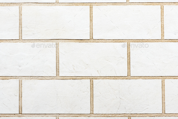 White brick wall background - Stock Photo - Images
