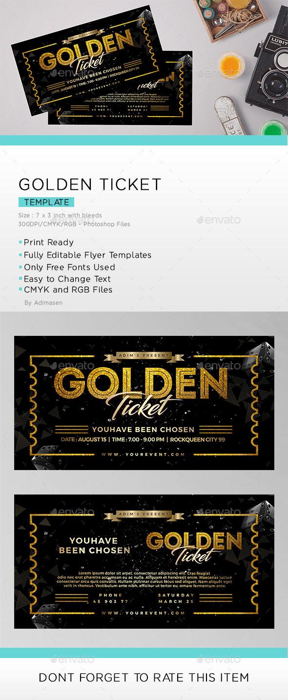 Golden Ticket - Invitations Cards & Invites