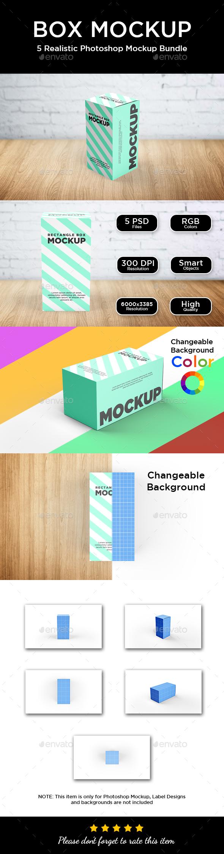 Box Mockup - Rectangle - Packaging Product Mock-Ups