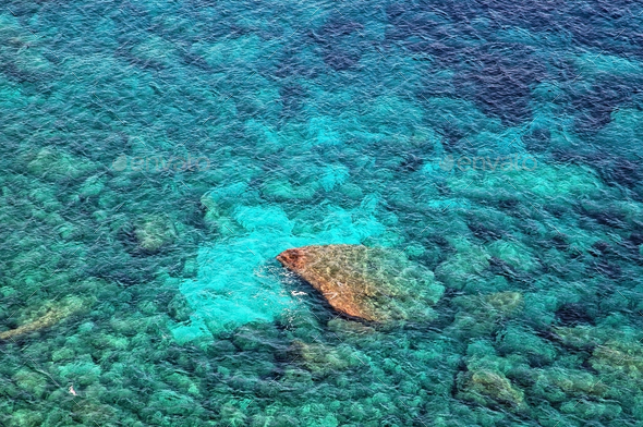 Beautiful clear, turquoise sea water - Stock Photo - Images