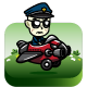 Grumpy Cop The Pilot - GraphicRiver Item for Sale