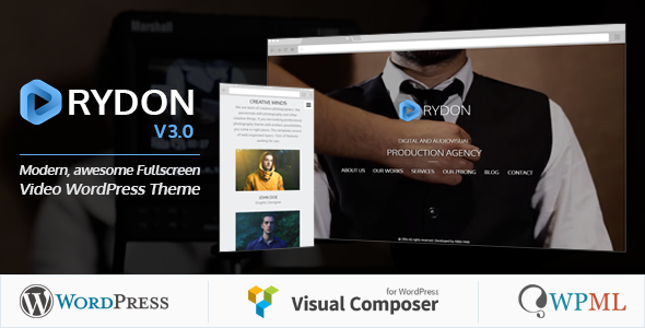 Image of Rydon - Fullscreen Video WordPress Theme