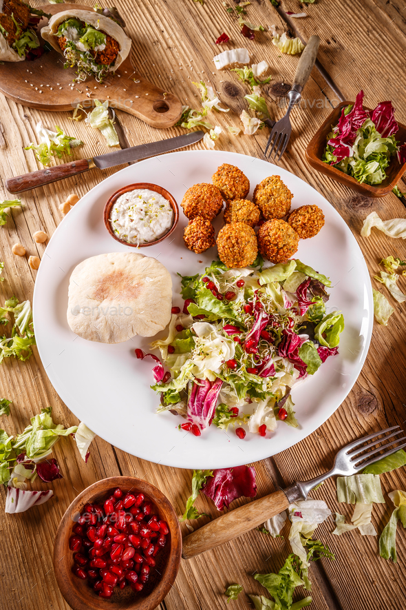 Plate of falafel - Stock Photo - Images