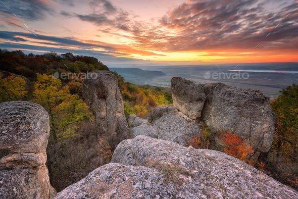 Autumn sunset - Stock Photo - Images