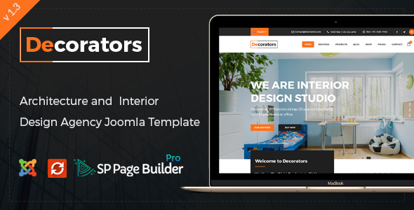 Image of Decorators - Joomla Template for Architecture & Modern Interior Design Studio