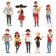 French Male and Female Characters, People Dressed - GraphicRiver Item for Sale