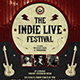 Indie Live Festival Flyer Template V2 - GraphicRiver Item for Sale