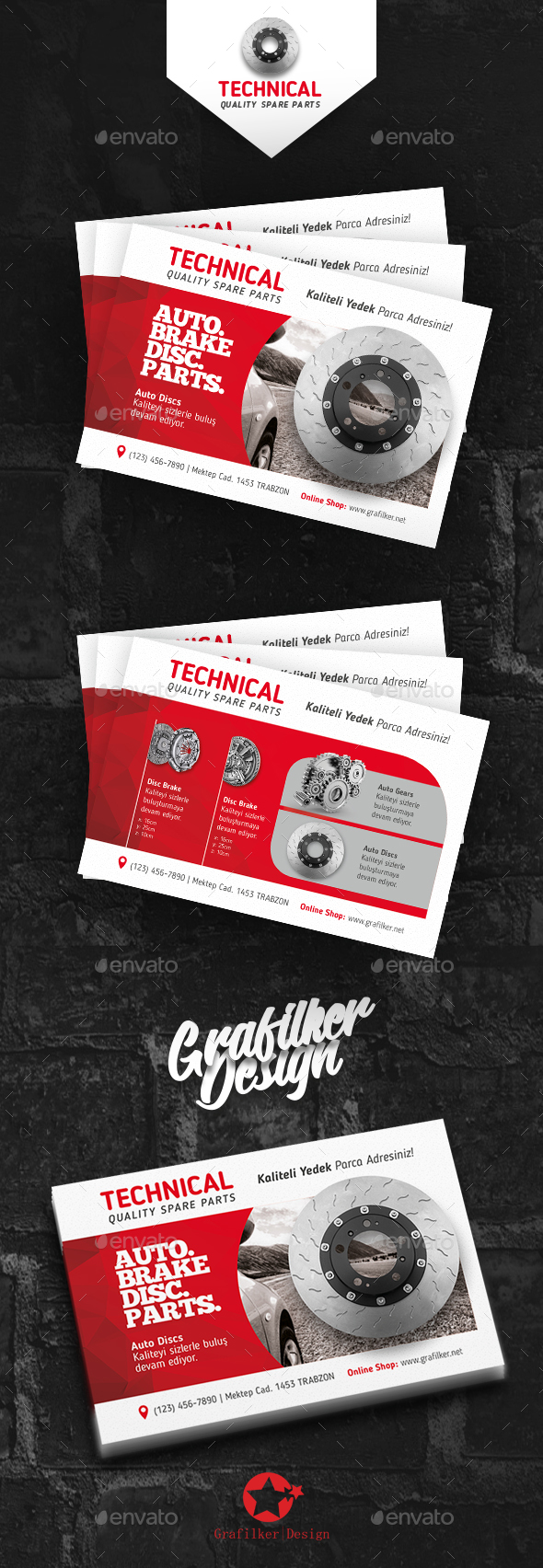 Technical Data Postcard Templates - Corporate Business Cards