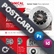 Technical Data Postcard Templates - GraphicRiver Item for Sale