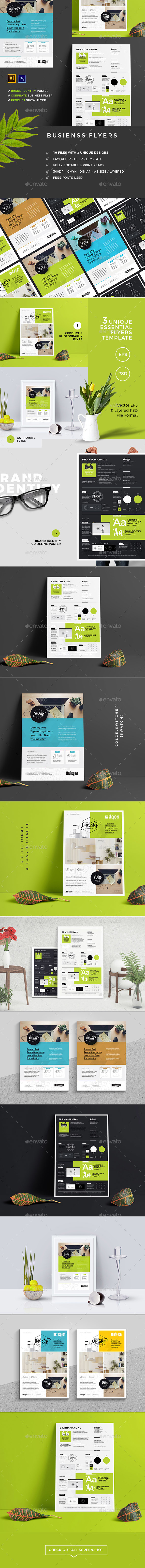 Flyers | Essential Set - Corporate Flyers