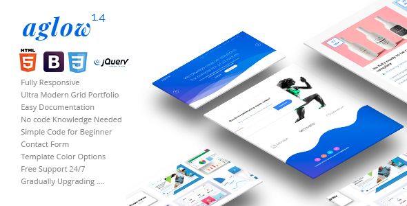 Image of Aglow Creative Business HTML Template