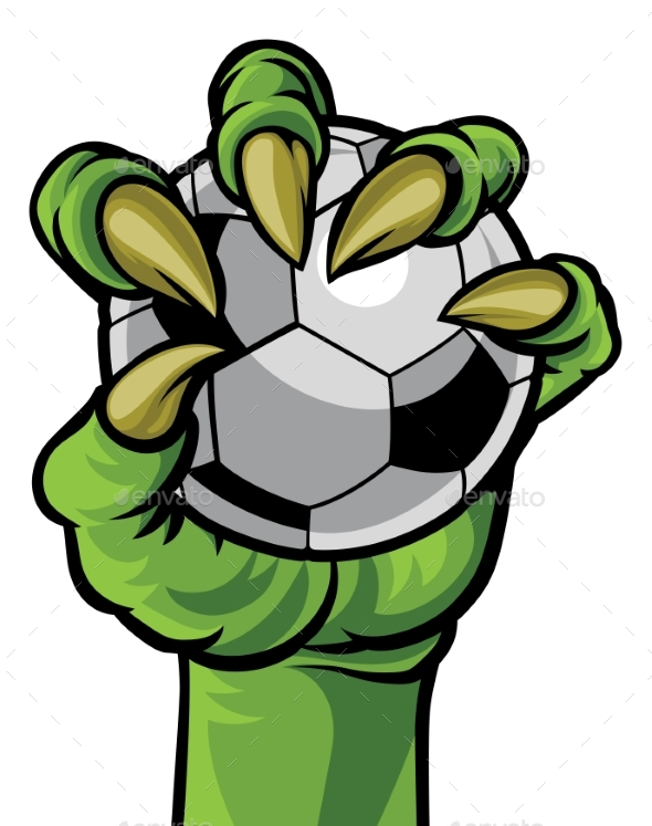 Claw Monster Hand Holding a Soccer Ball - Sports/Activity Conceptual