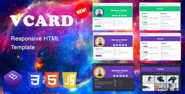 Vcard responsive resume cv and portfolio template bootstrap4 vcard responsive resume cv and portfolio template maxwellsz