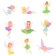 Collection of Magic Fairies in Different Dresses - GraphicRiver Item for Sale