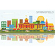 Springfield Skyline with Color Buildings, Blue Sky and Reflections - GraphicRiver Item for Sale